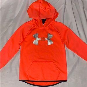 Bright orange hoodie